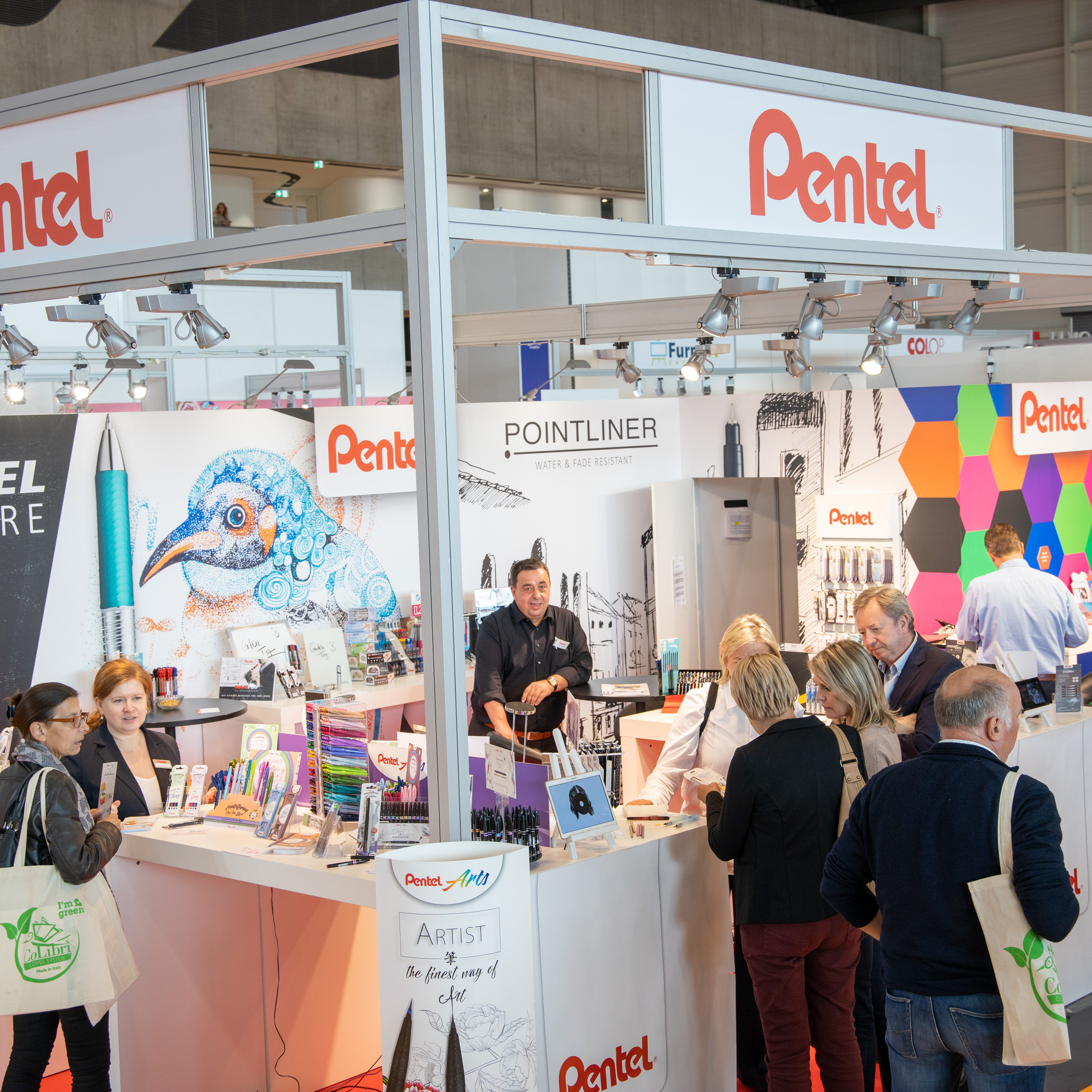 Insights-X 2019 booth Pentel